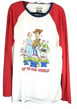 Men's Toy Story 4 Long Sleeve Graphic Christmas Holiday T-Shirt Size Large