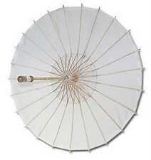 White Paper Umbrella Wedding Party Parasol 32in #13289 S-2194