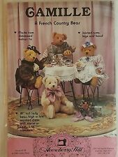 "Gooseberry Hill CAMILLE 158 French Country Bear Pattern NEW 18"" High 1989"