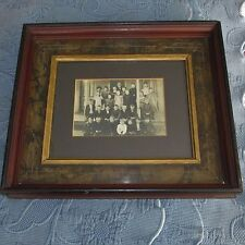 Antique Eastlake Victorian Walnut Deep Well Picture Frame & Vintage School Photo