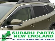 Genuine OEM 2020 Subaru Outback Side Window Deflectors (chrome) F001SAN000