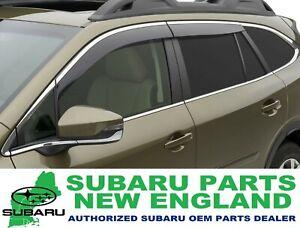 Genuine OEM 2020 Subaru Outback Side Window Deflectors (chrome) F001SAN000