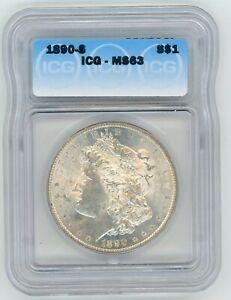 1890-S Morgan Dollar ICG MS63