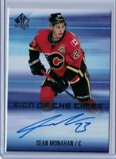 2015-16 SP Authentic Hockey #SOTT-SM Sean Monahan Sign of The Times Auto