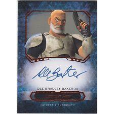 2016 Topps Star Wars Masterwork Dee Baker as Captain Rex Canvas /25 Autograph