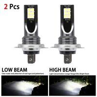 2PCS H7 LED Bulbs Super White Xenon Headlight Set High Low Beam Car Headlamp UK
