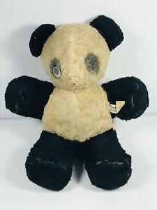 Vintage Gund 40s 50s Stuffed Animal Panda Doll Toy