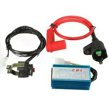 Motorbike Race Ignition Coil CDI Kill Switch Kit For 110cc 125cc Pit Dirt Bike