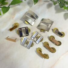 Mixed Lot of 11 Vintage Military Bar & Misc Metal Hat Uniforms Pins