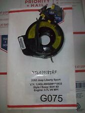 ✔GPU 2002 JEEP LIBERTY SPORT CLOCK SPRING REEL CABLE SRS  56010187AF  # G075**