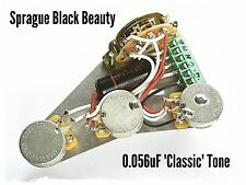 Fender Stratocaster Strat Sprague Black Beauty wiring harness loom upgrade kit