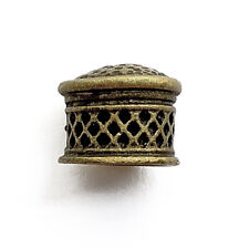 Antique Brass Plated Alloy 10x12mm Filigree Bullet Cord Tassel Bead Caps Q12