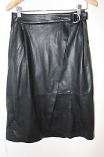 FRENCH CONNECTION FAUX LEATHER WRAP SKIRT ** SIZE 8 **