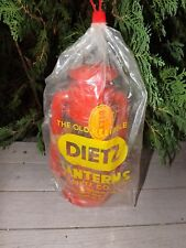 Vintage Red DIETZ JUNIOR #20 Oil Kerosene Railroad Lamp Lantern w/ Tag & Sealed