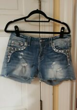Miss Me Jean Shorts w/ Much Bling Size 30