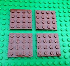Lego City Town 4x4 Brown Baseplates Base Plates QTY4 Star Wars Castle Pirates