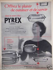 PUBLICITÉ 1957 PLAT PYREX SEDLEX LE PLAISIR DE CUISINER - ADVERTISING