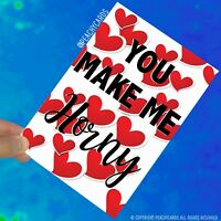 Funny Cards Rude Cards Valentines Cards You Make Me Horny Birthday Cards PC487