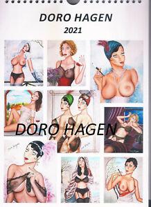 Doro Hagen Kalender Erotik Wandkalender 21x 30 cm Papier matt für das Jahr 2021