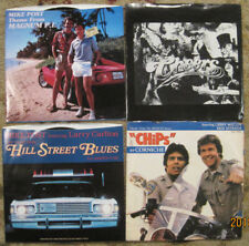 1980s TV Gold - Lot of 4 45rpm Records w/ PS MAGNUM, CHEERS, CHIPS, HIIL STREET