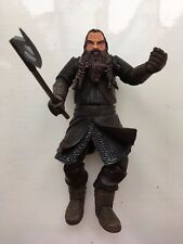 """HUGE 8"""" LORD OF THE RINGS GIMLI DELUXE POSEABLE MARVEL ACTION FIGURE"""