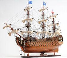 """Royal Louis 1779 Wooden Model Tall Ship 37"""" Sailboat Built Boat New"""