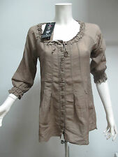 EUROPEAN CULTURE camicia donna art.6630 col.BEIGE SCURO tg.S ESTATE 2012