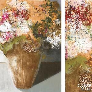 "24""x36"" TWO DOZEN BLOOMS by LESLIE BERNSEN ARTTOCANVAS ABSTRACT FLOWERS CANVAS"