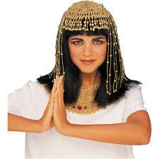 Gold Cleopatra Headdress Uraeus Goddess Mesh Head Piece Headband Adult Beaded