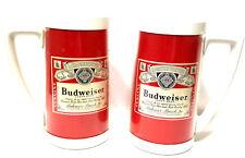 2 Vintage Collectable Budweiser Bud Beer Thero-Serv Mugs