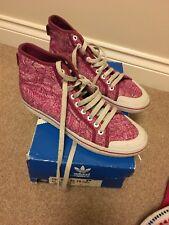 329bd048bcf2 Womens Adidas Hi Tops Size 8 Pink Mid Canvas Boots Adi Honey Ladies
