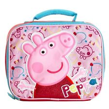 "Entertainment One 7.5"" Peppa Pig Lunch Box Lunch Bag - Pink NWT"