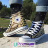 Converse All Star Pitonate Black Python Scarpe Borchiate Handmade Borchie Uomo D