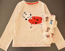 NEXT Set 104 110 116 Shirt Tunika Strumpfhose Hund dog Longsleeeve Zwillinge