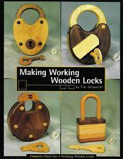 """Making Working Wooden Locks"" - Plans for 5 Working Wooden Locks"