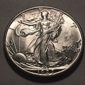 1929-D Walking Liberty Silver Half Dollar * Ch/Gem BU  *
