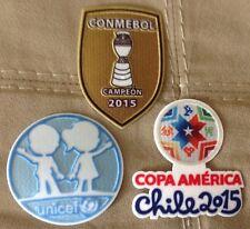 Set Of Copa America Chile 2015 Patch Badge Parche Remendo Argentina Brazil