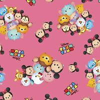 Disney Tsum Tsum Group Toss 100% cotton Fabric by the yard
