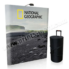 6' Trade Show Pop Up Display Banner Stand Exhibits Kiosk Pop Up Booth Free Print