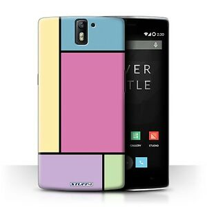 STUFF4 Case/Cover for OnePlus One/Pastel Tiles/5 Tiles/Pink