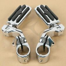 """Chrome 1.25"""" Adjustable Highway Foot Pegs Pedals For Harley Touring Road King"""