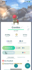 Pokemon Shiny Cranidos -  Acc mini - PTC acc - 100k stardust - Describe