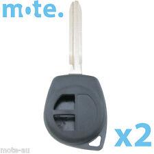 2 x Suzuki Grand Vitara Liana Swift 2 Button Key Remote Case/Shell/Blank