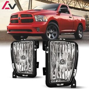 For RAM 1500 13-18 Clear Lens Pair Bumper Fog Light Lamp OE Replacement DOT
