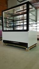 Cake Display Fridge 1.4m With LED Lights Top Quality Square