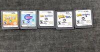 Nintendo DS 5 game lot- Petz Dogz, Petz Nursery 1 & 2, Sims, littlest pet shop