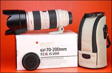 70-200mm F2.8 Canon EF L IS USM TELEOBIETTIVO ZOOM + anteriore/posteriore dell'obiettivo Cappelli & Cappuccio