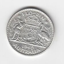 1940 Australian Silver TWO Shilling Florin (TWO BOB) KING GEORGE VI (very Nice)