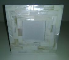 "LOVELY 6"" SQUARE MOTHER OF PEARL PHOTO FRAME TAKES A 3""X3"" PHOTO"