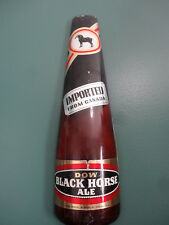 VINTAGE 1974 DOW BLACK HORSE ALE BEER IMPORTED FROM CANADA BAR SIGN